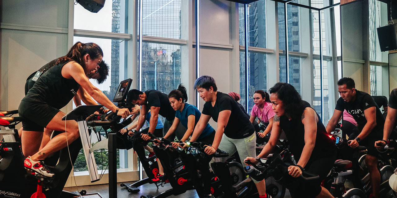 luxury fashion brand indoor cycling