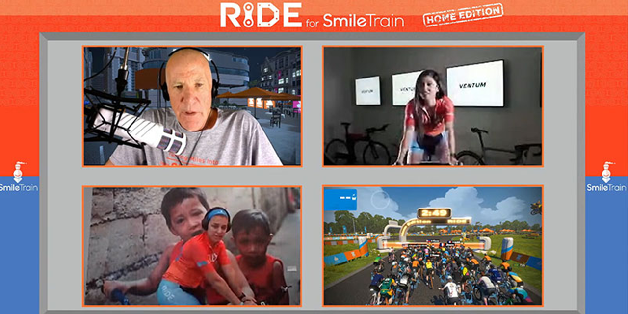 Ride for Smile Train home edition