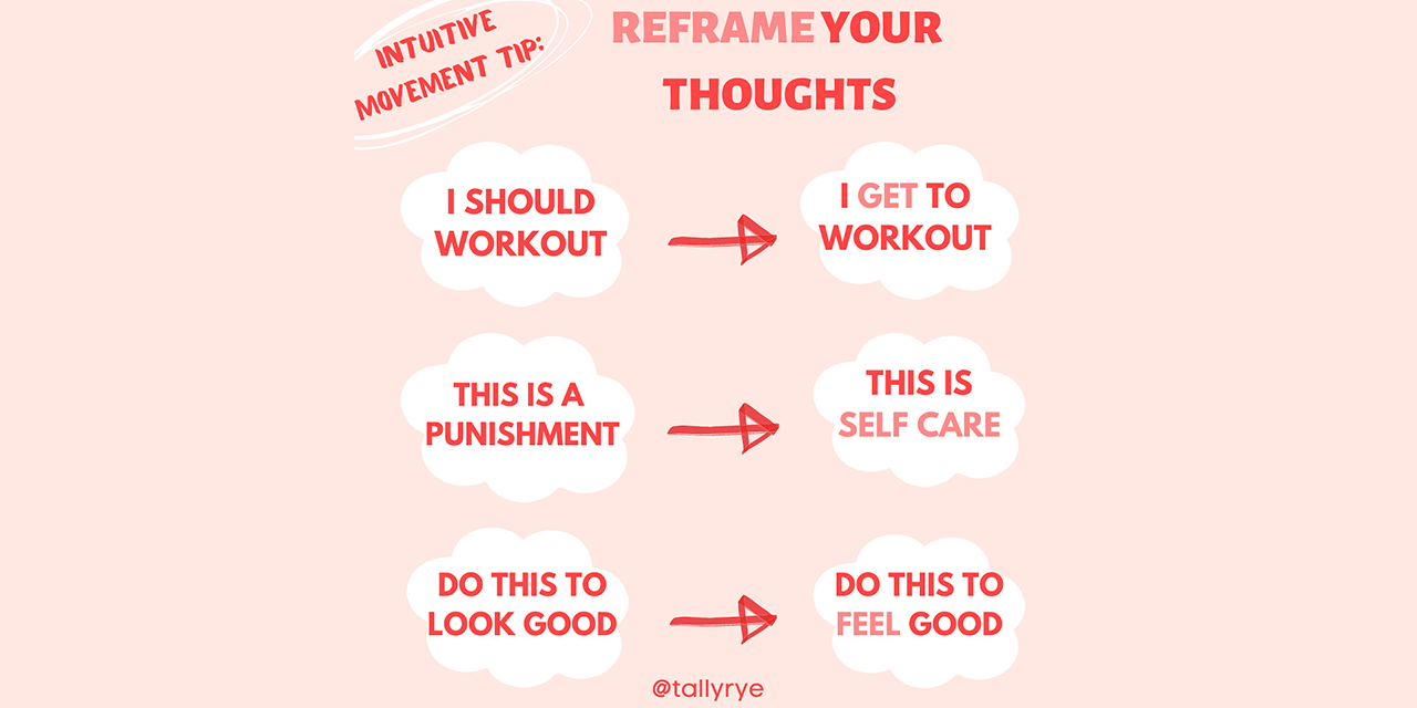 Reframe your thoughts, get a healthy relationship with yourself